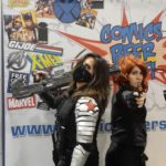 Winter Soldier and Black Widow at the CBSF Cosplay Contest at Motor City Comic Con